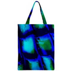 Blue Scales Pattern Background Zipper Classic Tote Bag by Amaryn4rt