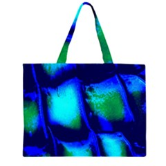 Blue Scales Pattern Background Zipper Large Tote Bag by Amaryn4rt