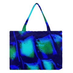 Blue Scales Pattern Background Medium Tote Bag by Amaryn4rt