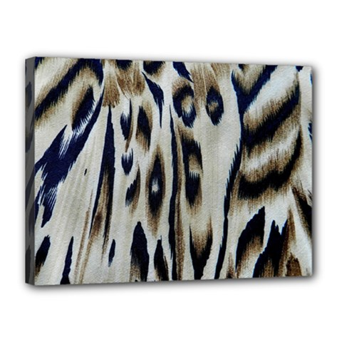 Tiger Background Fabric Animal Motifs Canvas 16  X 12  by Amaryn4rt