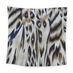 Tiger Background Fabric Animal Motifs Square Tapestry (large)