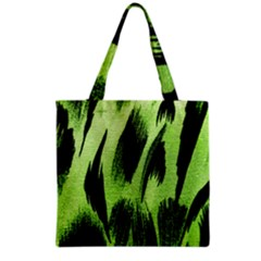 Green Tiger Background Fabric Animal Motifs Grocery Tote Bag by Amaryn4rt