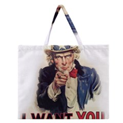 Uncle Sam Zipper Large Tote Bag by Valentinaart