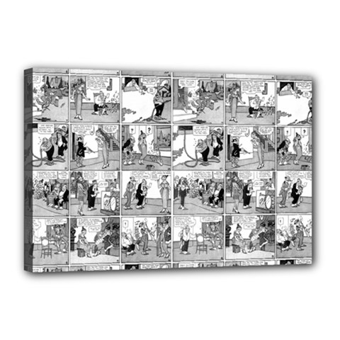 Old Comic Strip Canvas 18  X 12  by Valentinaart