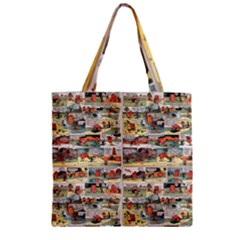 Old Comic Strip Zipper Grocery Tote Bag by Valentinaart