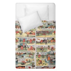 Old Comic Strip Duvet Cover Double Side (single Size) by Valentinaart