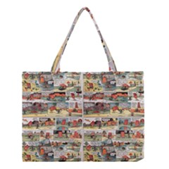 Old Comic Strip Medium Tote Bag by Valentinaart