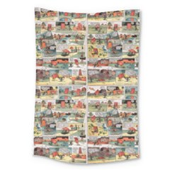 Old Comic Strip Large Tapestry by Valentinaart