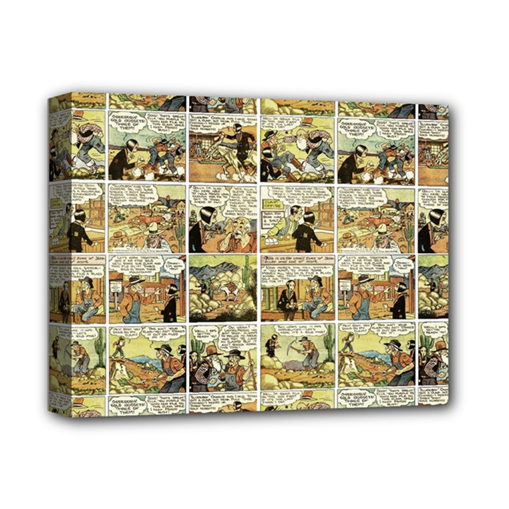 Old comic strip Deluxe Canvas 14  x 11