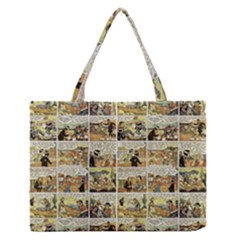 Old Comic Strip Medium Zipper Tote Bag by Valentinaart