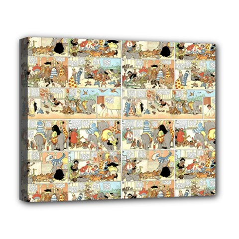 Old Comic Strip Deluxe Canvas 20  X 16   by Valentinaart