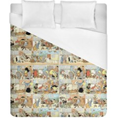 Old Comic Strip Duvet Cover (california King Size) by Valentinaart