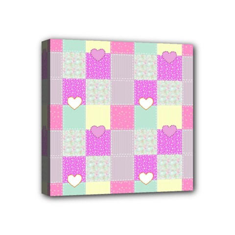 Old Quilt Mini Canvas 4  X 4  by Valentinaart