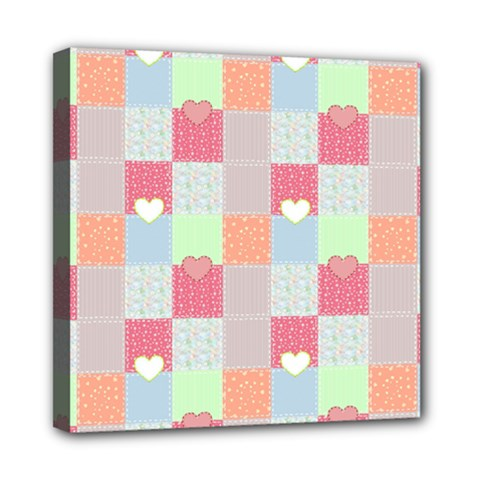 Patchwork Mini Canvas 8  X 8  by Valentinaart