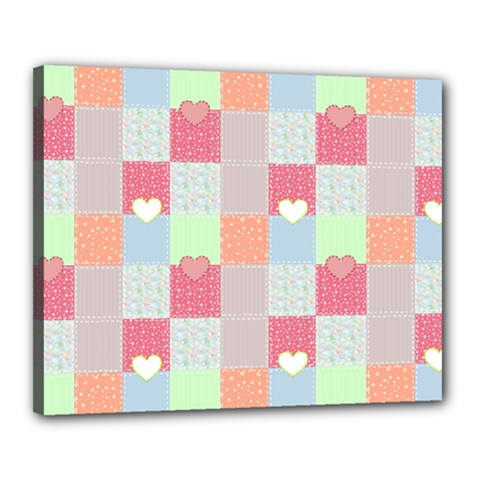 Patchwork Canvas 20  X 16  by Valentinaart