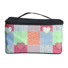 Patchwork Cosmetic Storage Case by Valentinaart