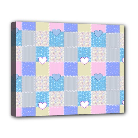 Patchwork Deluxe Canvas 20  X 16   by Valentinaart