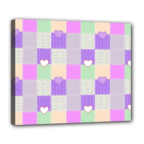 Patchwork Deluxe Canvas 24  X 20   by Valentinaart