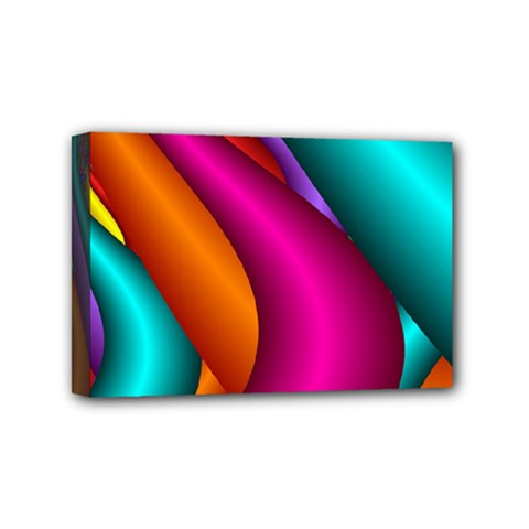 Fractal Wallpaper Color Pipes Mini Canvas 6  X 4  by Amaryn4rt