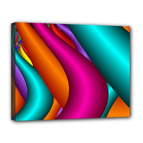 Fractal Wallpaper Color Pipes Canvas 14  X 11  by Amaryn4rt