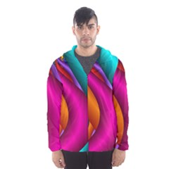 Fractal Wallpaper Color Pipes Hooded Wind Breaker (men) by Amaryn4rt