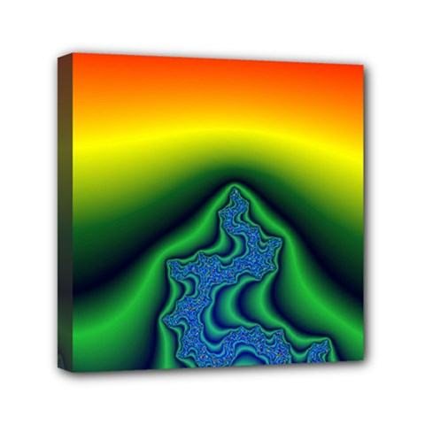 Fractal Wallpaper Water And Fire Mini Canvas 6  X 6  by Amaryn4rt