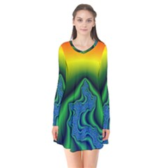 Fractal Wallpaper Water And Fire Flare Dress