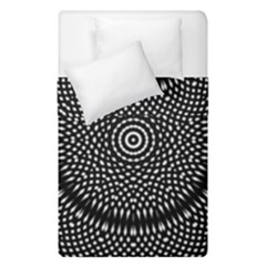 Black Lace Kaleidoscope On White Duvet Cover Double Side (single Size) by Amaryn4rt