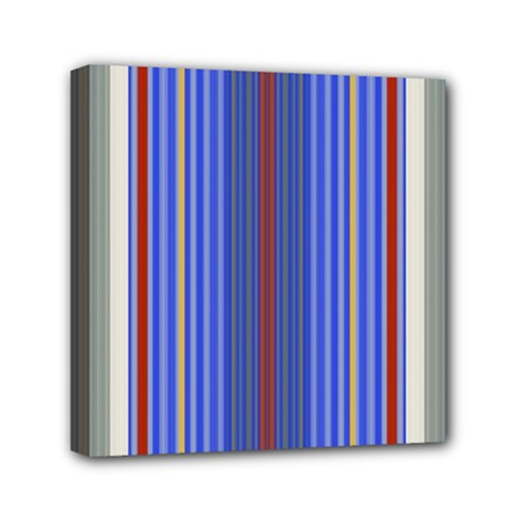 Colorful Stripes Background Mini Canvas 6  X 6  by Amaryn4rt