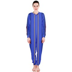 Colorful Stripes Background Onepiece Jumpsuit (ladies)