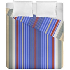 Colorful Stripes Background Duvet Cover Double Side (california King Size) by Amaryn4rt