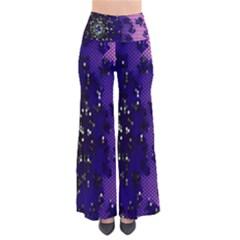 Blue Digital Fractal Pants by Amaryn4rt