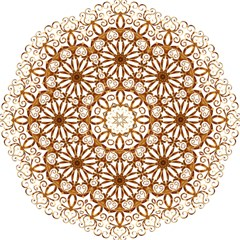 Golden Filigree Flake On White Folding Umbrellas by Amaryn4rt
