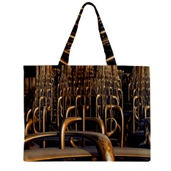 Fractal Image Of Copper Pipes Zipper Mini Tote Bag by Amaryn4rt
