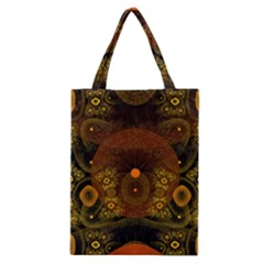 Fractal Yellow Design On Black Classic Tote Bag by Amaryn4rt