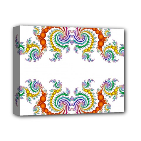 Fractal Kaleidoscope Of A Dragon Head Deluxe Canvas 14  X 11  by Amaryn4rt