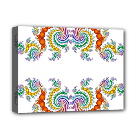 Fractal Kaleidoscope Of A Dragon Head Deluxe Canvas 16  X 12   by Amaryn4rt