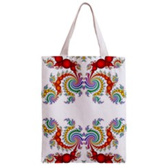 Fractal Kaleidoscope Of A Dragon Head Zipper Classic Tote Bag by Amaryn4rt
