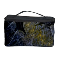 Fractal Wallpaper With Blue Flowers Cosmetic Storage Case by Amaryn4rt