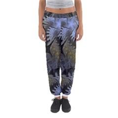 Fractal Wallpaper With Blue Flowers Women s Jogger Sweatpants by Amaryn4rt