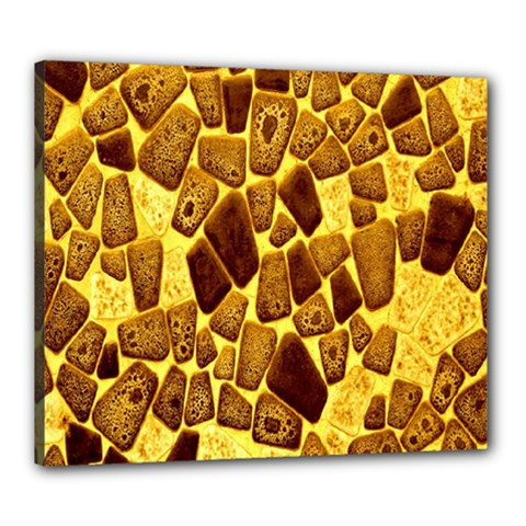 Yellow Cast Background Canvas 24  X 20  by Amaryn4rt