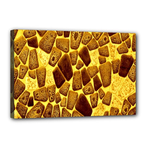 Yellow Cast Background Canvas 18  X 12  by Amaryn4rt