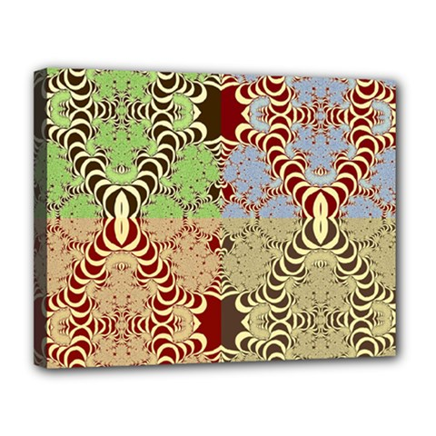 Multicolor Fractal Background Canvas 14  X 11  by Amaryn4rt