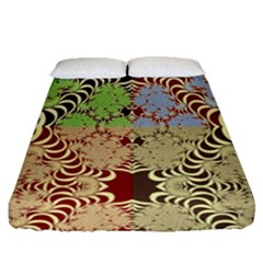 Multicolor Fractal Background Fitted Sheet (queen Size) by Amaryn4rt