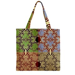 Multicolor Fractal Background Zipper Grocery Tote Bag by Amaryn4rt
