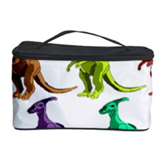 Multicolor Dinosaur Background Cosmetic Storage Case by Amaryn4rt
