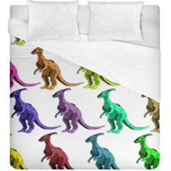 Multicolor Dinosaur Background Duvet Cover (king Size) by Amaryn4rt