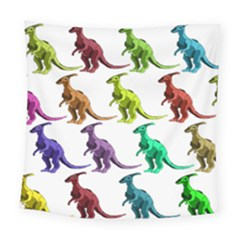 Multicolor Dinosaur Background Square Tapestry (large) by Amaryn4rt