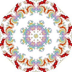 Fractal Kaleidoscope Of A Dragon Head Golf Umbrellas by Amaryn4rt