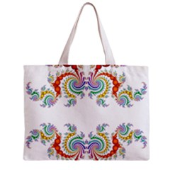 Fractal Kaleidoscope Of A Dragon Head Zipper Mini Tote Bag by Amaryn4rt